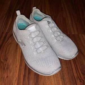 Shimmery White Slip On Sneakers